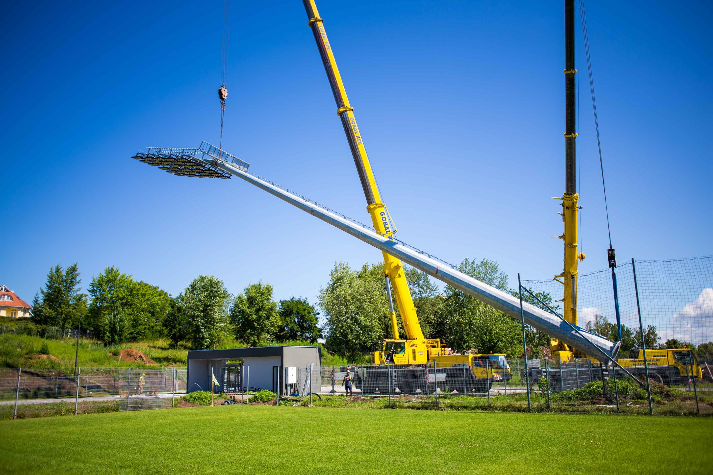 Kolorcity Kazincbarcika SC - fényforrások kihelyezése a stadionban