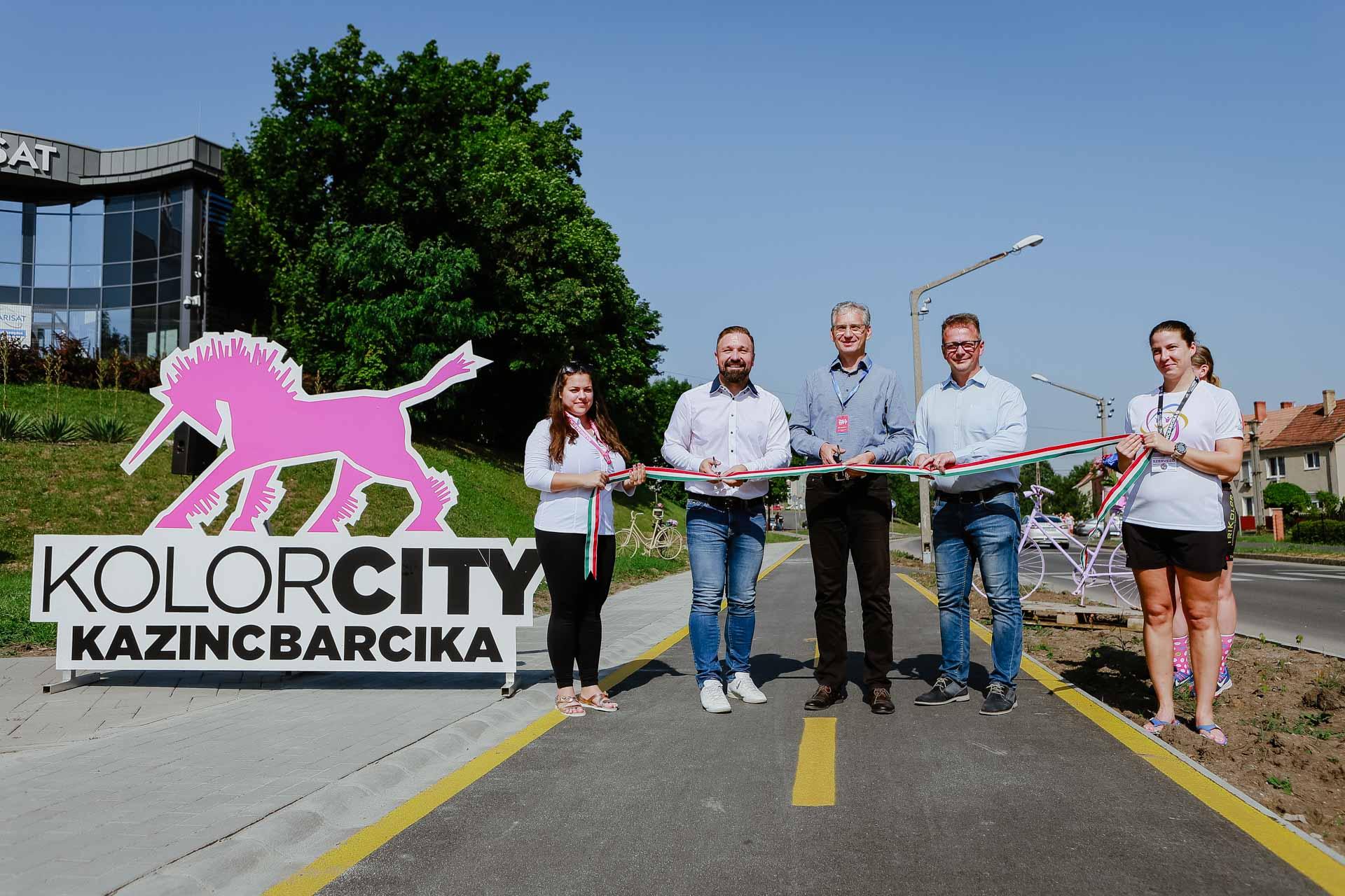 Kerékpárút-átadó és Tour de Hongrie Kazincbarcikán