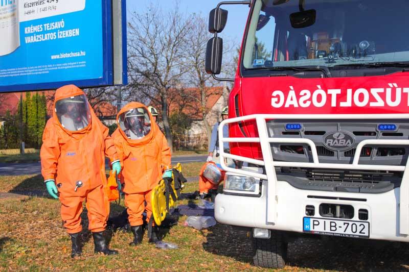 Külső Védelmi Terv Gyakorlat Kazincbarcikán