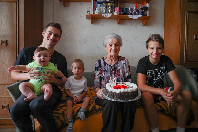 Idősköszöntés - Dusek Ferencné Jolán néni