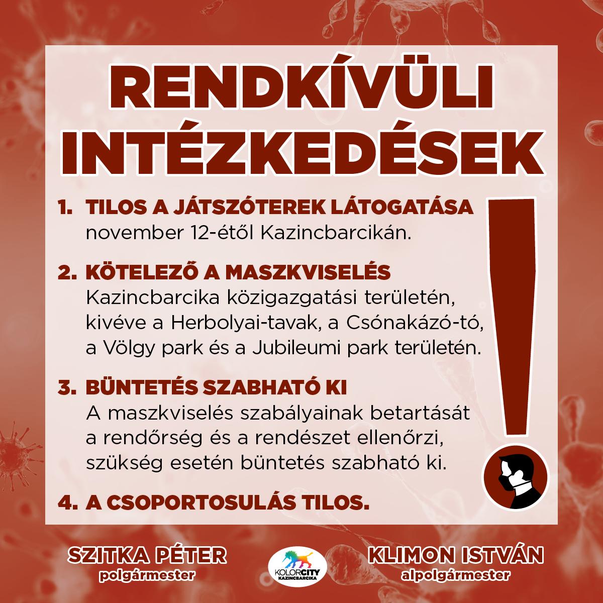 https://kolorline.hu/Rendkívüli intézkedések Kazincbarcikán – A város közigazgatási területén kötelező a maszkviselés