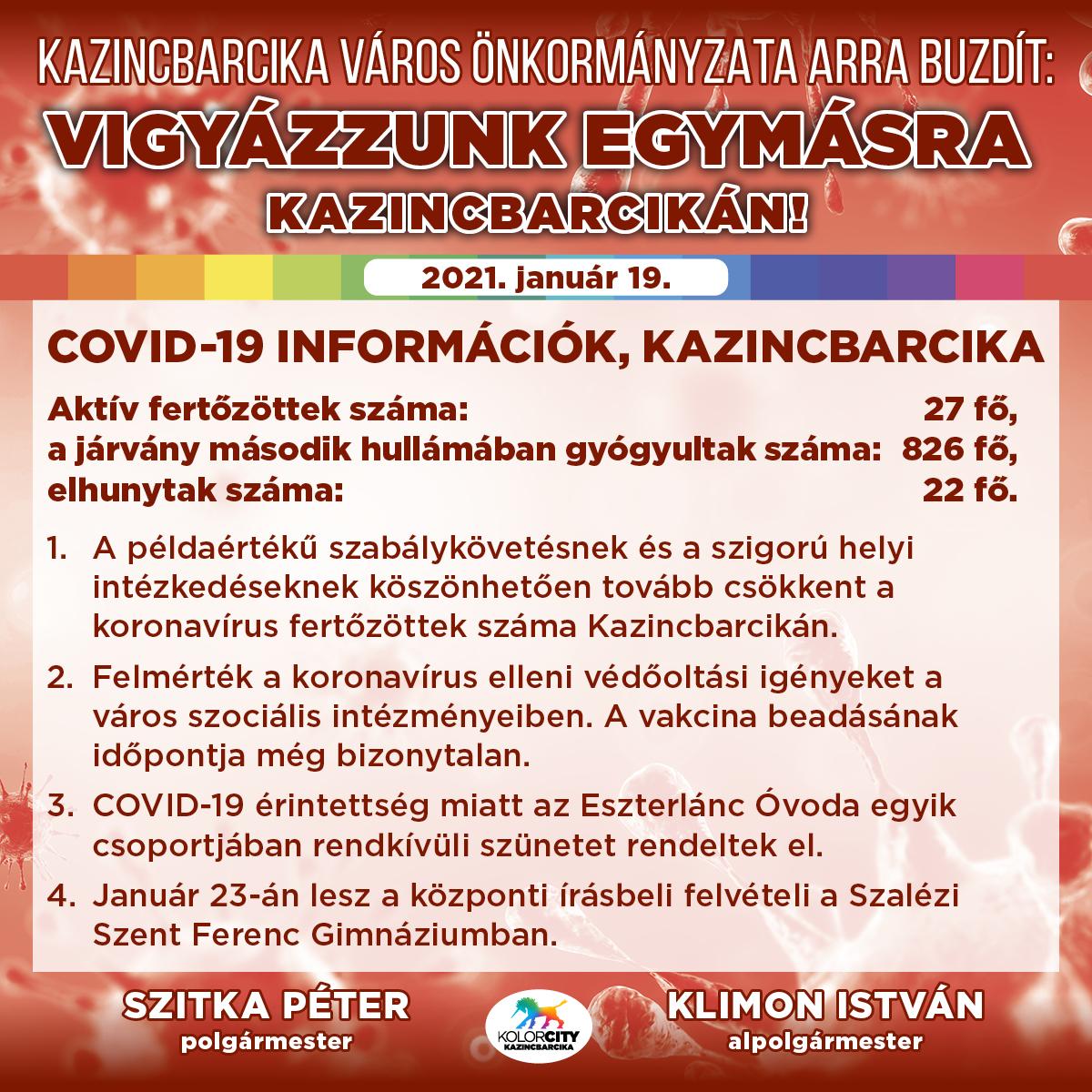 https://kolorline.hu/Vigyázzunk egymásra Kazincbarcikán! – 2021. január 19.