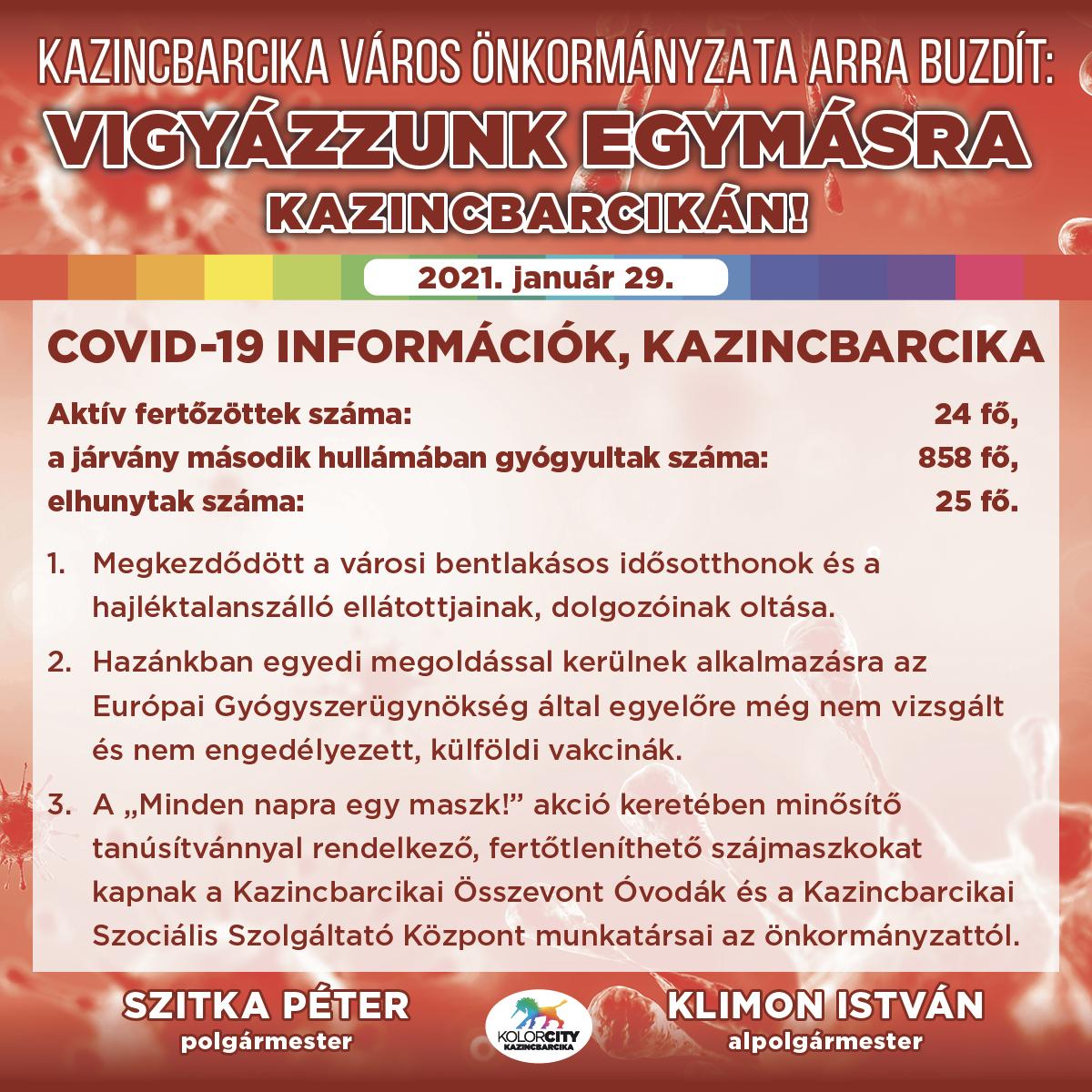 https://kolorline.hu/Vigyázzunk egymásra Kazincbarcikán! – 2021. január 29.