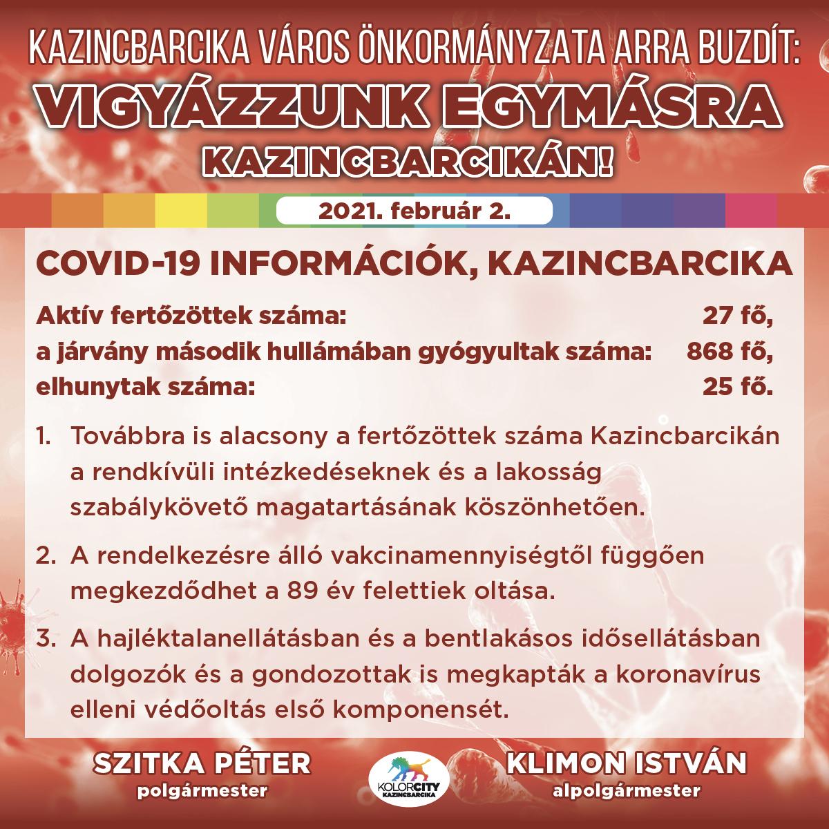 https://kolorline.hu/Vigyázzunk egymásra Kazincbarcikán! – 2021. február 2.