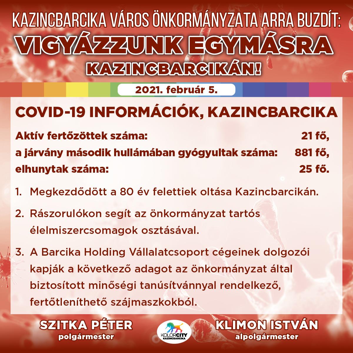 https://kolorline.hu/Vigyázzunk egymásra Kazincbarcikán! – 2021. február 5.