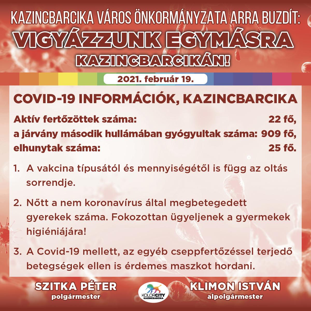 https://kolorline.hu/Vigyázzunk egymásra Kazincbarcikán! – 2021. február 19.
