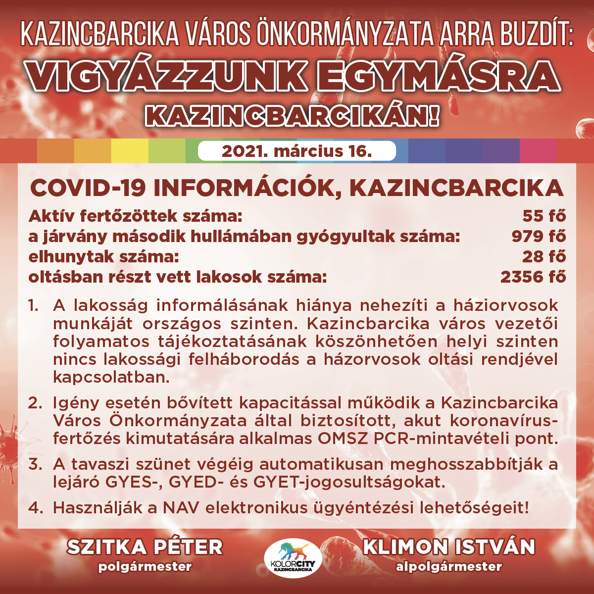 https://kolorline.hu/Vigyázzunk egymásra Kazincbarcikán! – 2021. március 16.