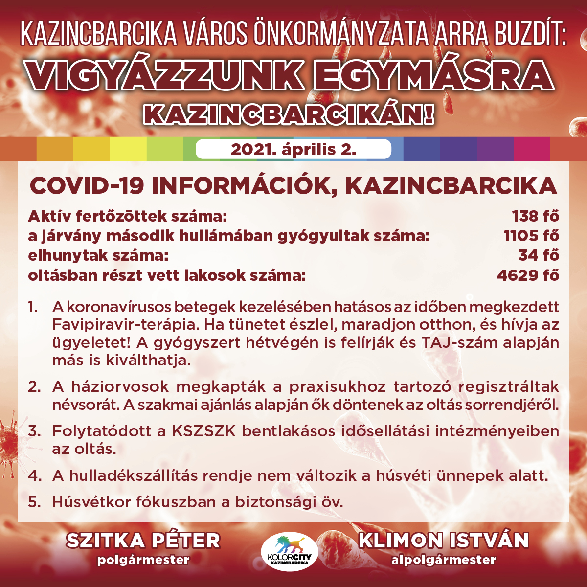 https://kolorline.hu/Vigyázzunk egymásra Kazincbarcikán! – 2021. április 2.