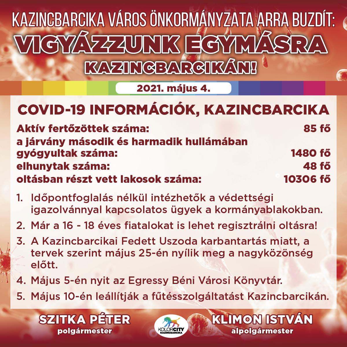 https://kolorline.hu/Vigyázzunk egymásra Kazincbarcikán! – 2021. május 4.