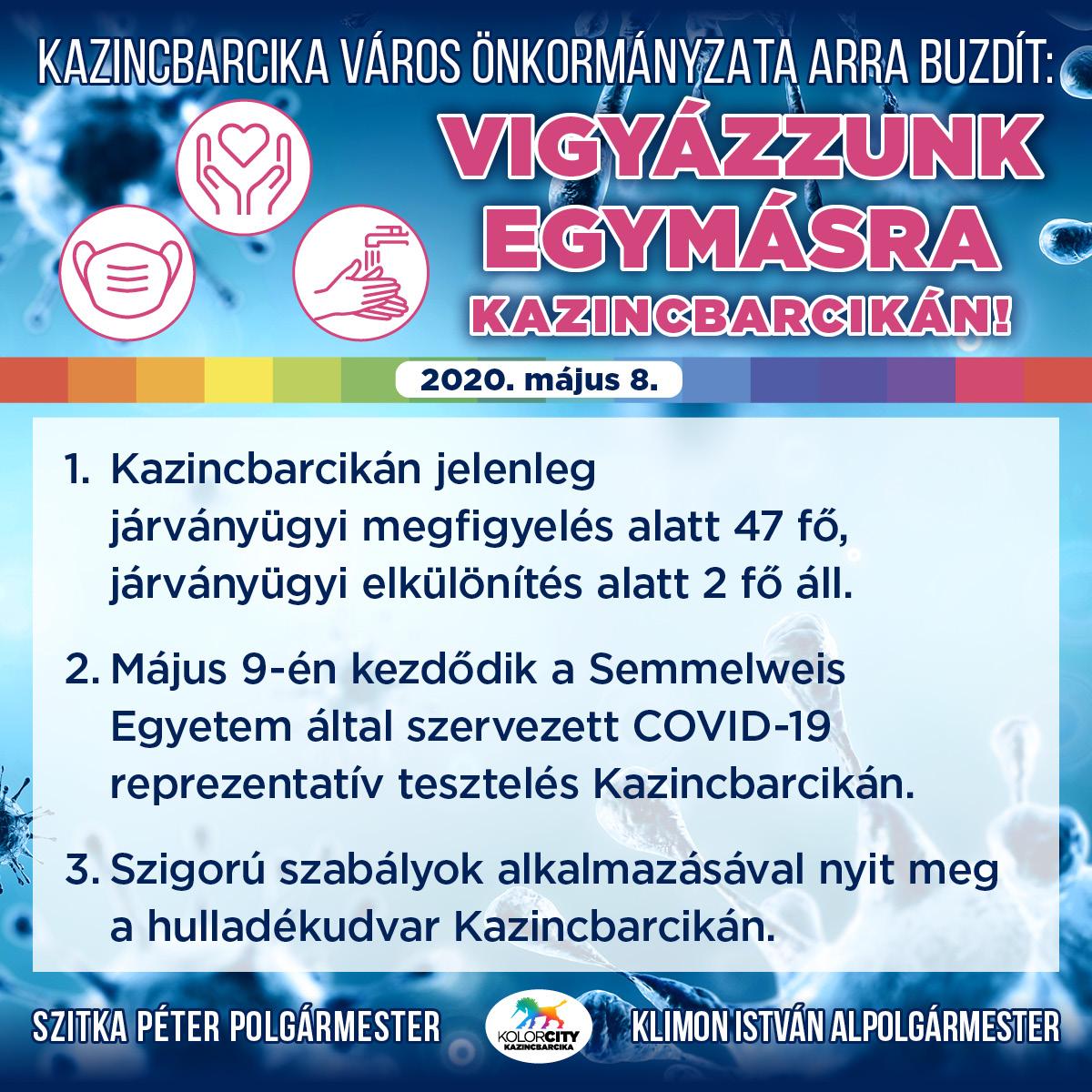 https://kolorline.hu/Kazincbarcika Város Önkormányzata arra buzdít: Vigyázzunk egymásra Kazincbarcikán! – 2020. május 8.