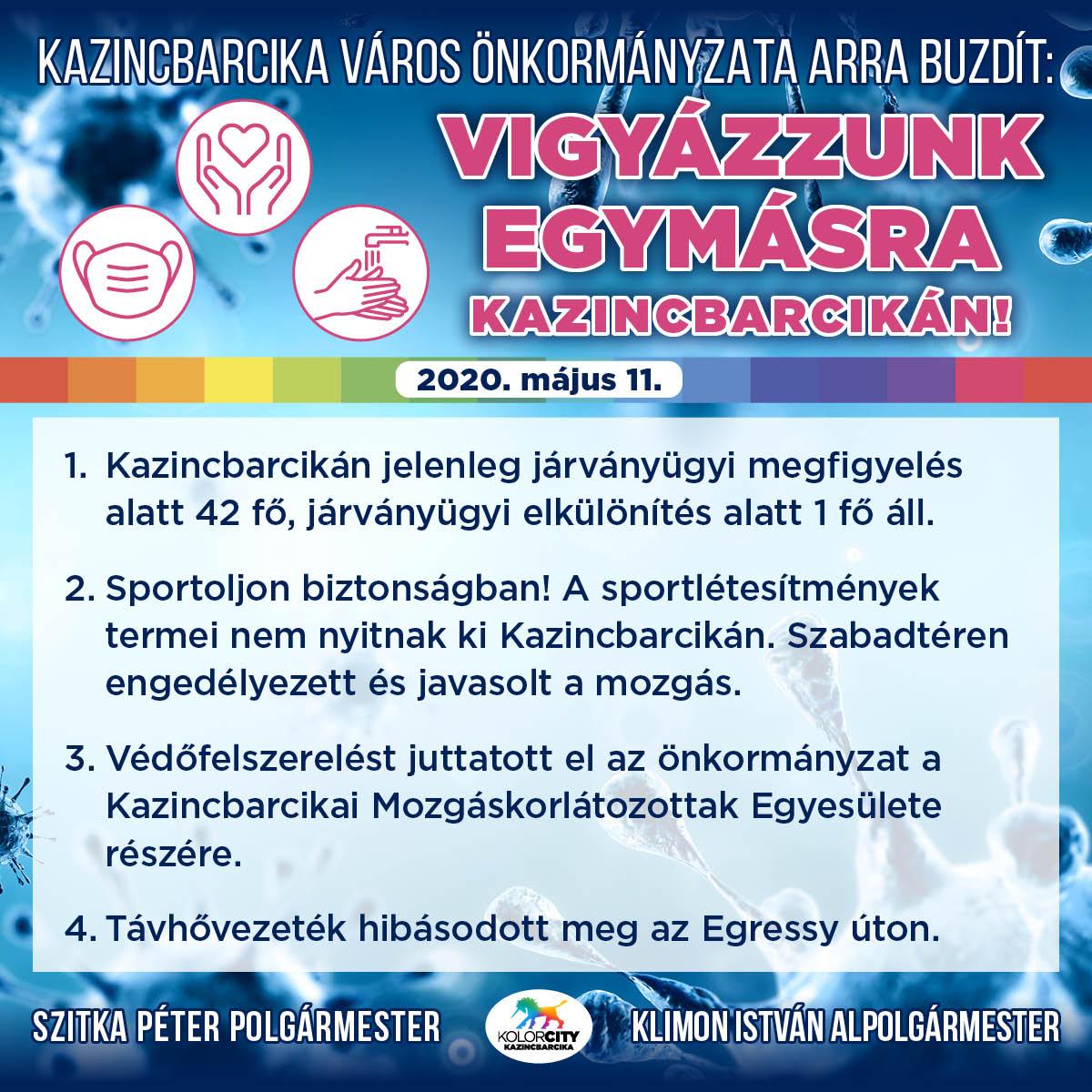 https://kolorline.hu/Kazincbarcika Város Önkormányzata arra buzdít: Vigyázzunk egymásra Kazincbarcikán! – 2020. május 11.