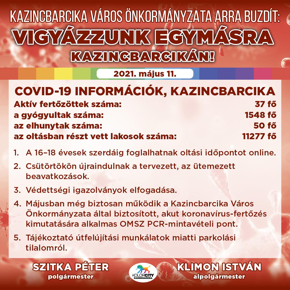 https://kolorline.hu/Vigyázzunk egymásra Kazincbarcikán! – 2021. május 11.