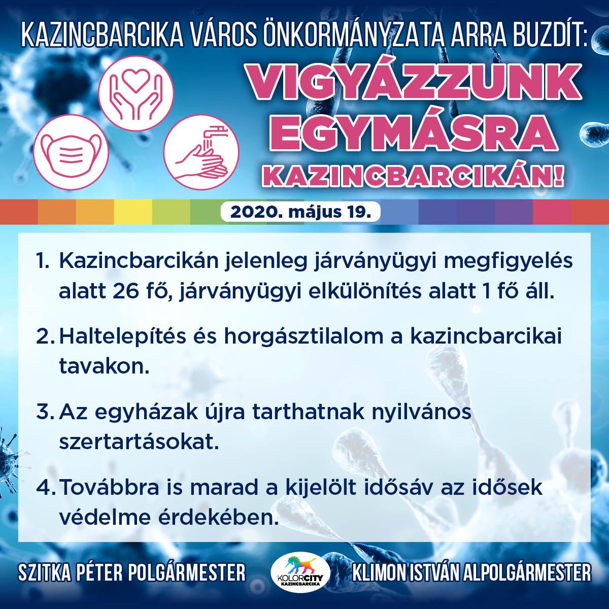 https://kolorline.hu/Vigyázzunk egymásra Kazincbarcikán! – 2020. május 19.