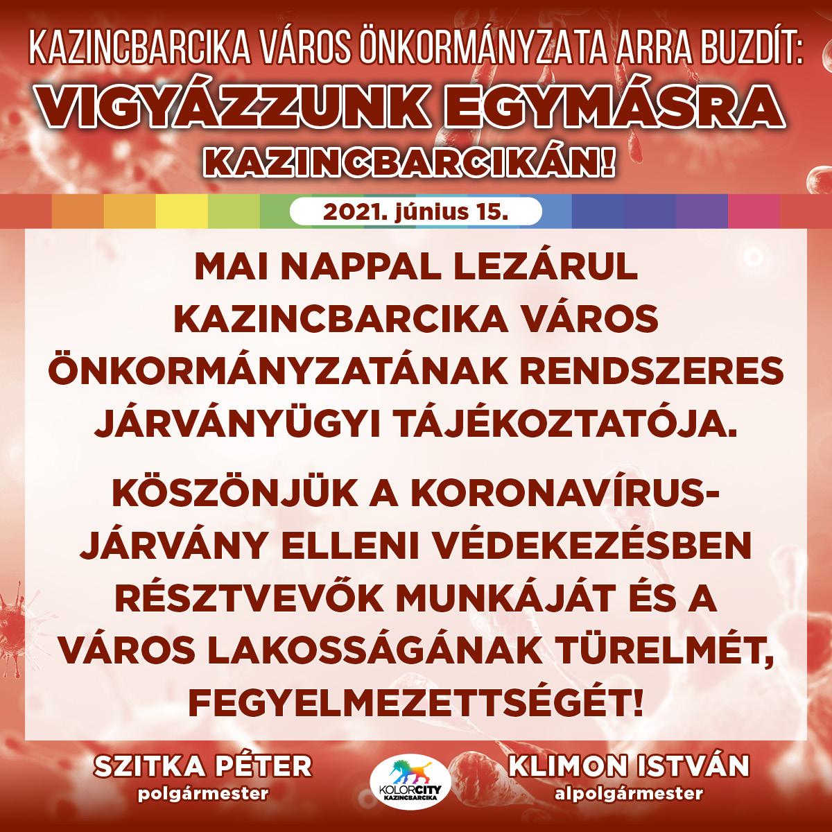 https://kolorline.hu/Vigyázzunk egymásra Kazincbarcikán – 2021. június 15.