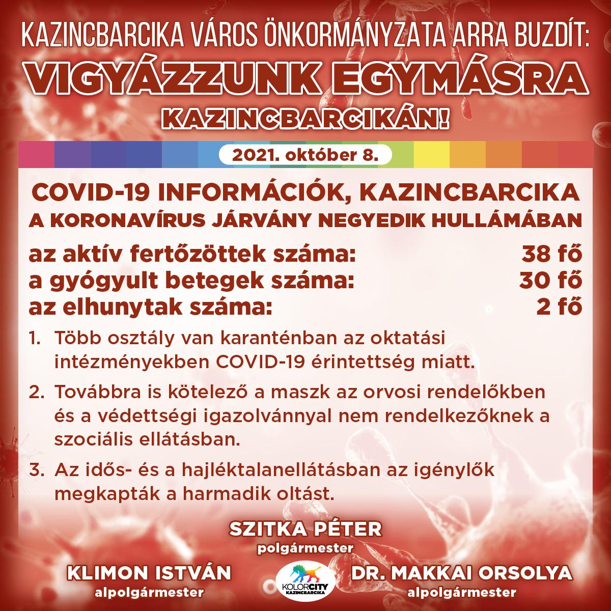 https://kolorline.hu/Vigyázzunk egymásra Kazincbarcikán! – 2021. október 8.