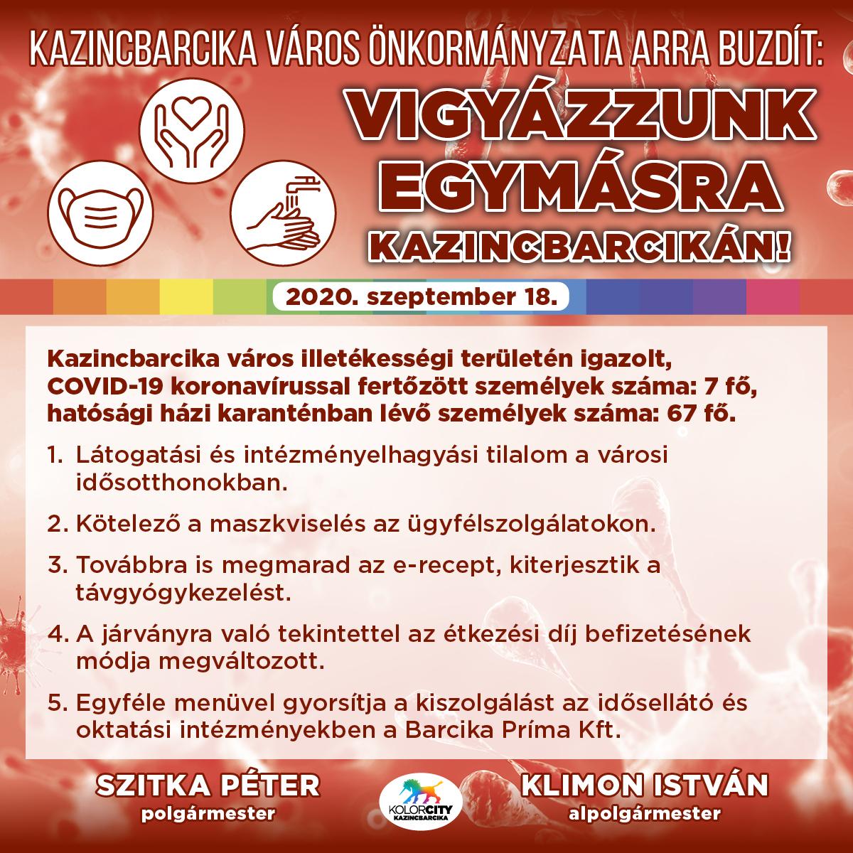 https://kolorline.hu/Vigyázzunk egymásra Kazincbarcikán! – 2020. szeptember 18.