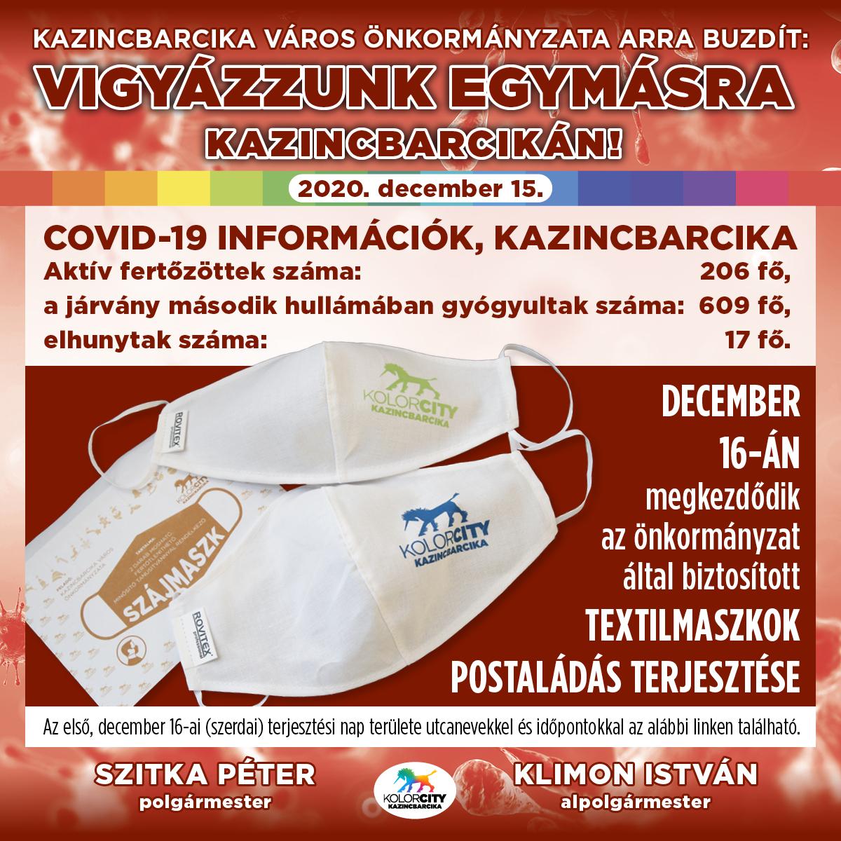 https://kolorline.hu/Vigyázzunk egymásra Kazincbarcikán! – 2020. december 15.