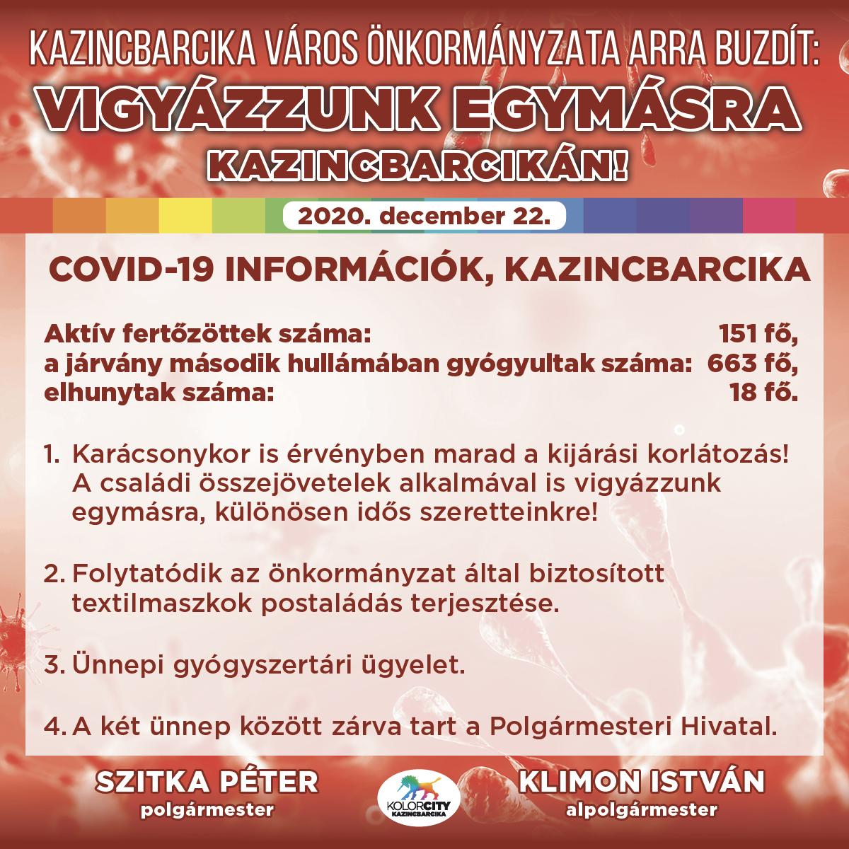 https://kolorline.hu/Vigyázzunk egymásra Kazincbarcikán! – 2020. december 22.