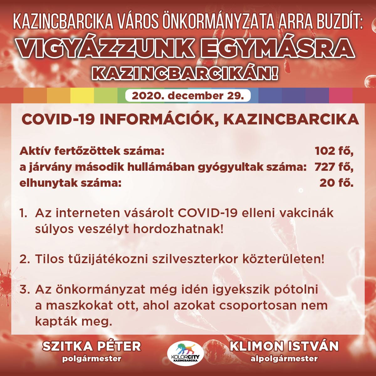 https://kolorline.hu/Vigyázzunk egymásra Kazincbarcikán! – 2020. december 29.