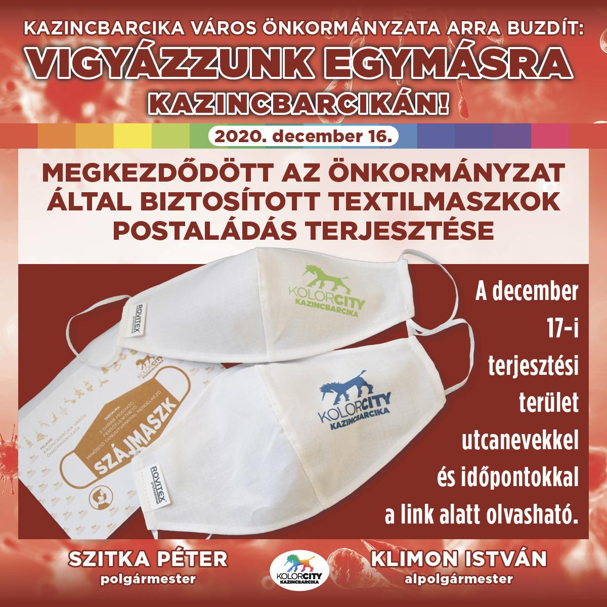 https://kolorline.hu/Megkezdődött az önkormányzat által biztosított textilmaszkok postaládás terjesztése