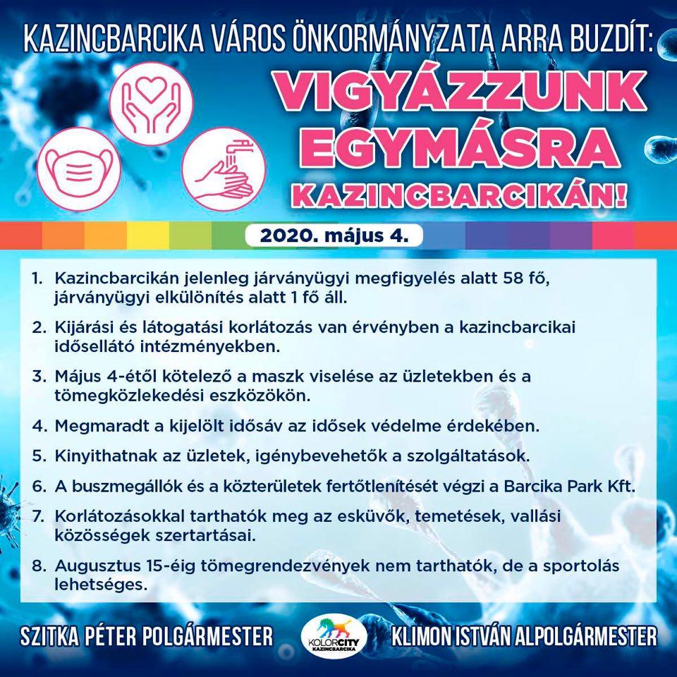 https://kolorline.hu/Vigyázzunk egymásra Kazincbarcikán! – 2020. május 4.