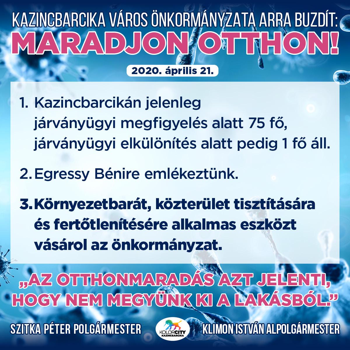 https://kolorline.hu/Kazincbarcika Város Önkormányzata arra buzdít: Maradj otthon! – 2020. április 21.
