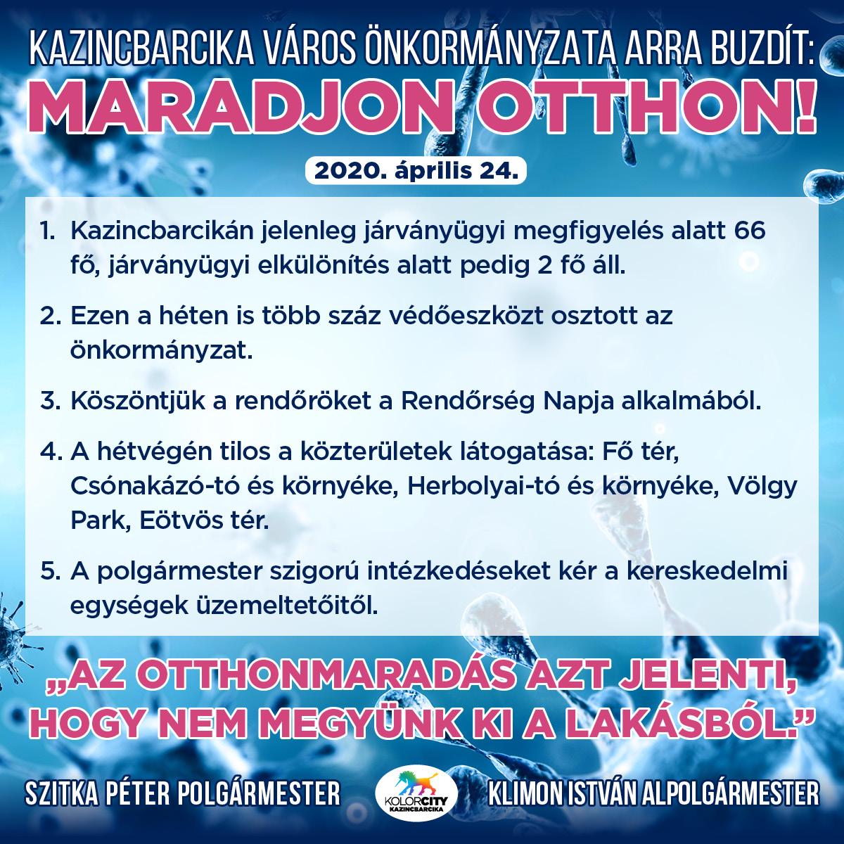 https://kolorline.hu/Kazincbarcika Város Önkormányzata arra buzdít: Maradj otthon! – 2020. április 24.