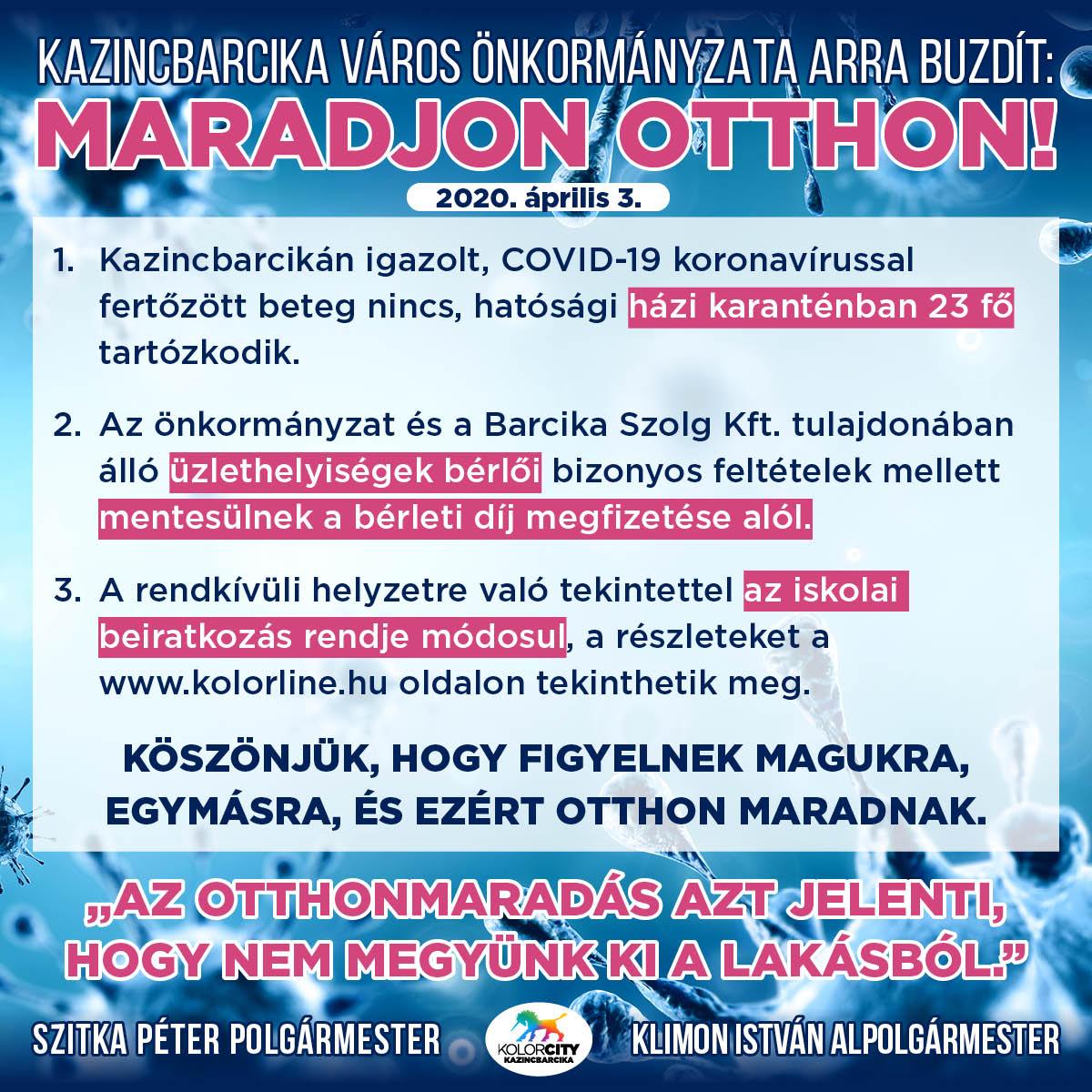 https://kolorline.hu/Kazincbarcika Város Önkormányzata arra buzdít: Maradj otthon! – 2020. április 3.