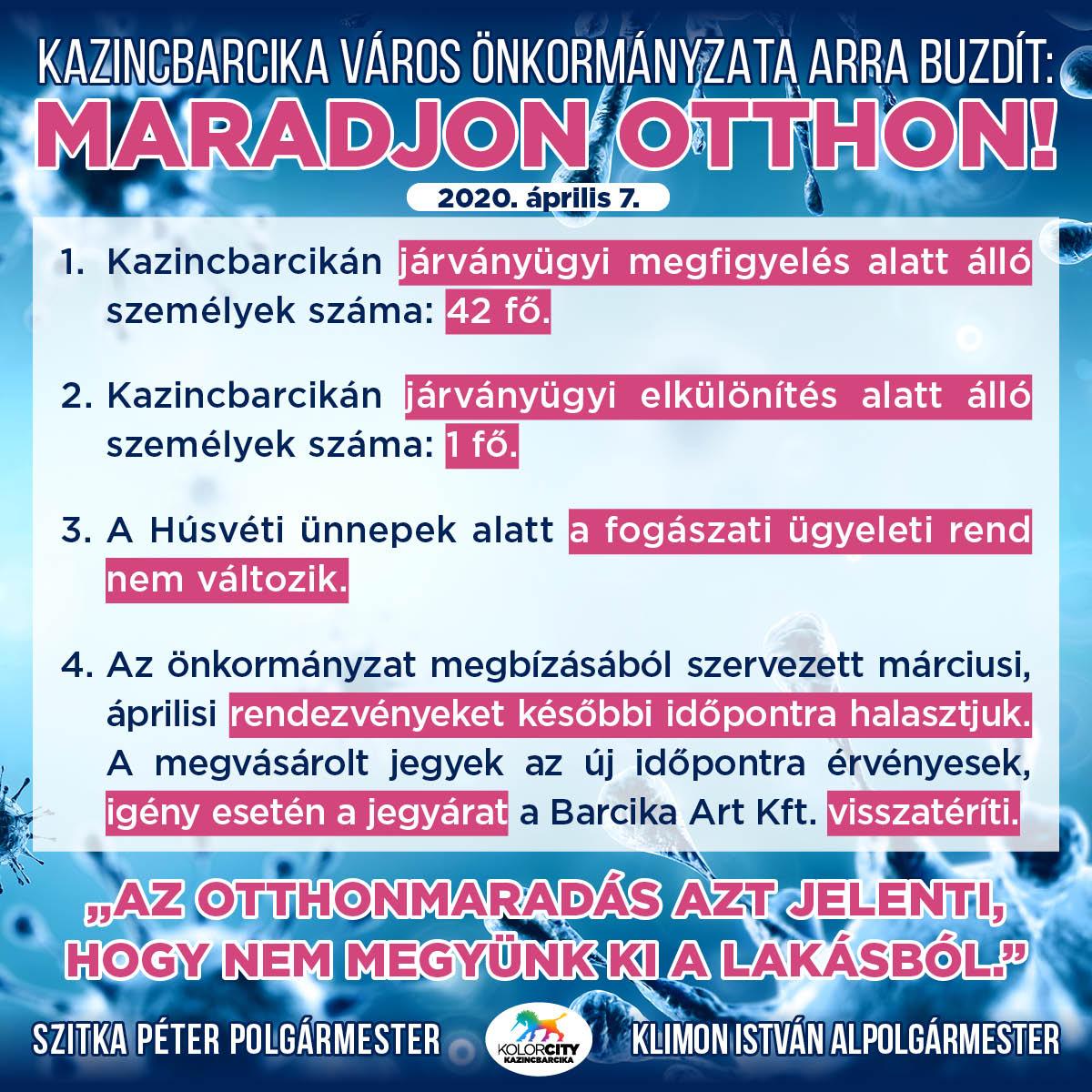 https://kolorline.hu/Kazincbarcika Város Önkormányzata arra buzdít: Maradj otthon! – 2020. április 7.