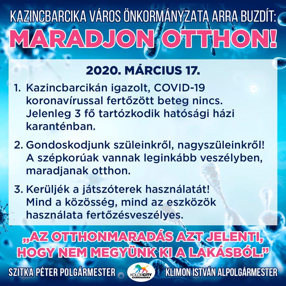 https://kolorline.hu/Maradjon otthon! – 2020. március 17.