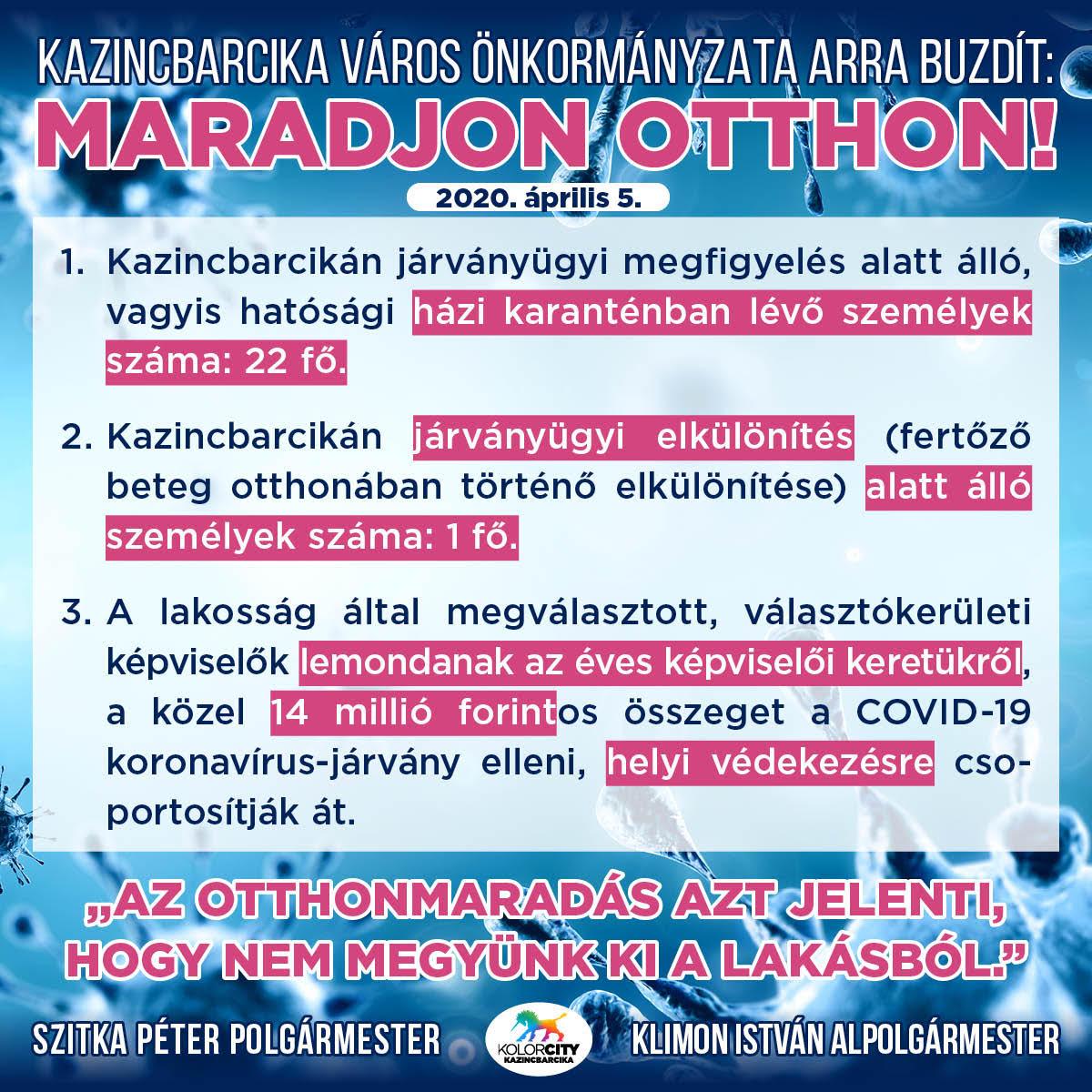 https://kolorline.hu/Kazincbarcika Város Önkormányzata arra buzdít: Maradj otthon!  – 2020. április 5.