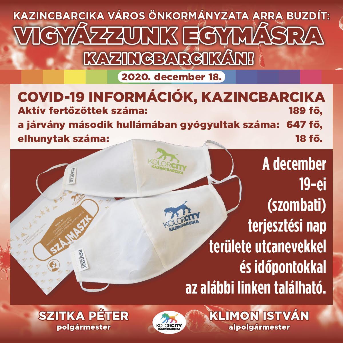 https://kolorline.hu/Vigyázzunk egymásra Kazincbarcikán! – 2020. december 18.