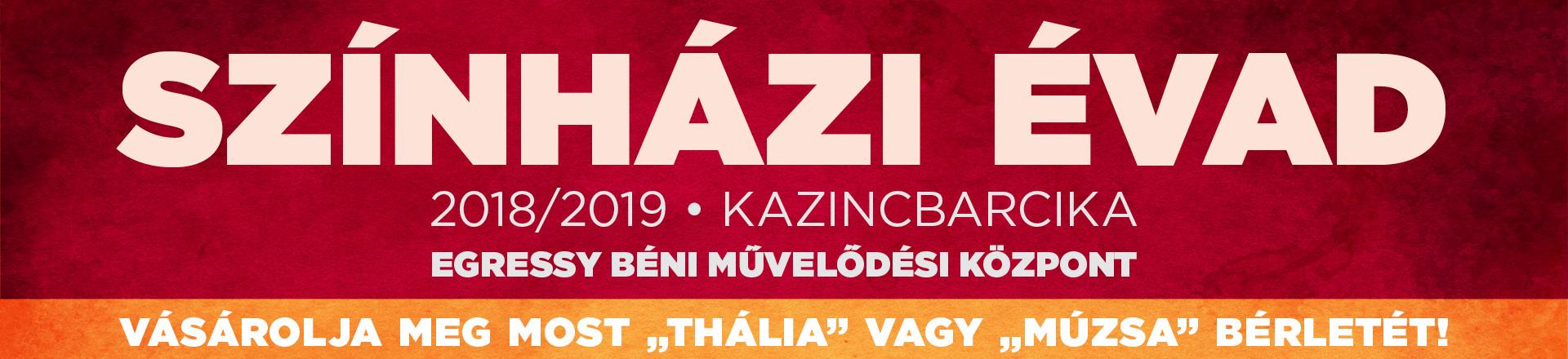 Színházi évad 2018/2019