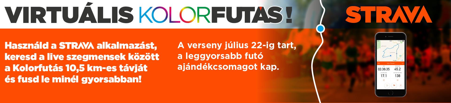 Virtuális Kolorfutás (Strava)